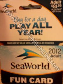 Sea World Adult Fun Card discount