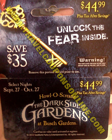 Busch Gardens Tampa Coupons 2012 Promotions