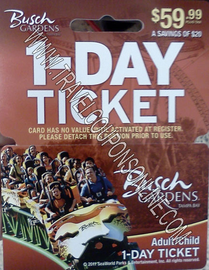 Coupon code busch gardens