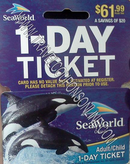 Sea life discount coupon