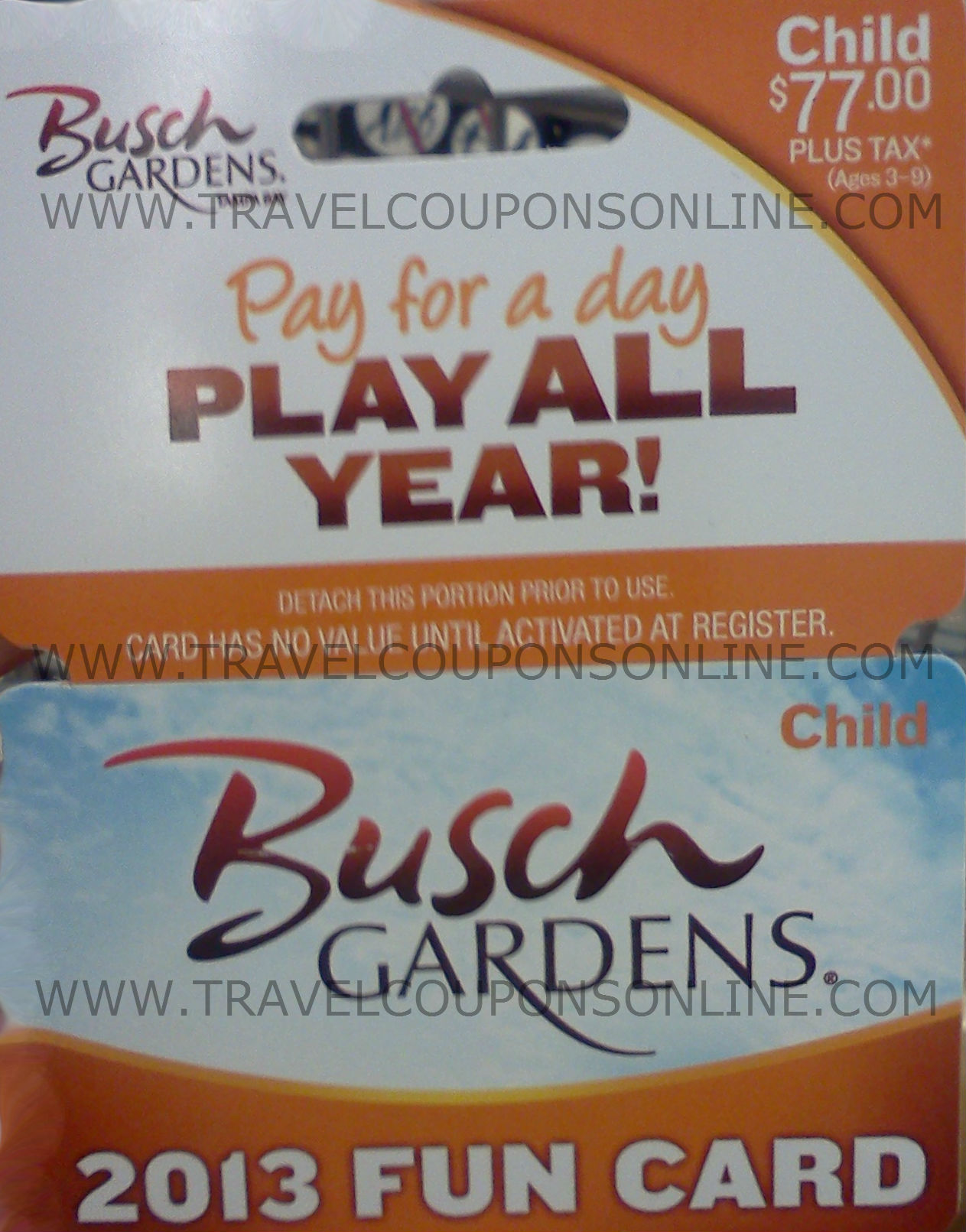 Nov 07,  · Busch Gardens Tampa Bay Fun Card Now $ Verified Used 25 Times in the Last Week. Get Offer. Expired and Not Verified Busch Gardens Promo Codes & Offers. Add a Busch Gardens Coupon. Found a great deal or code? Share the .