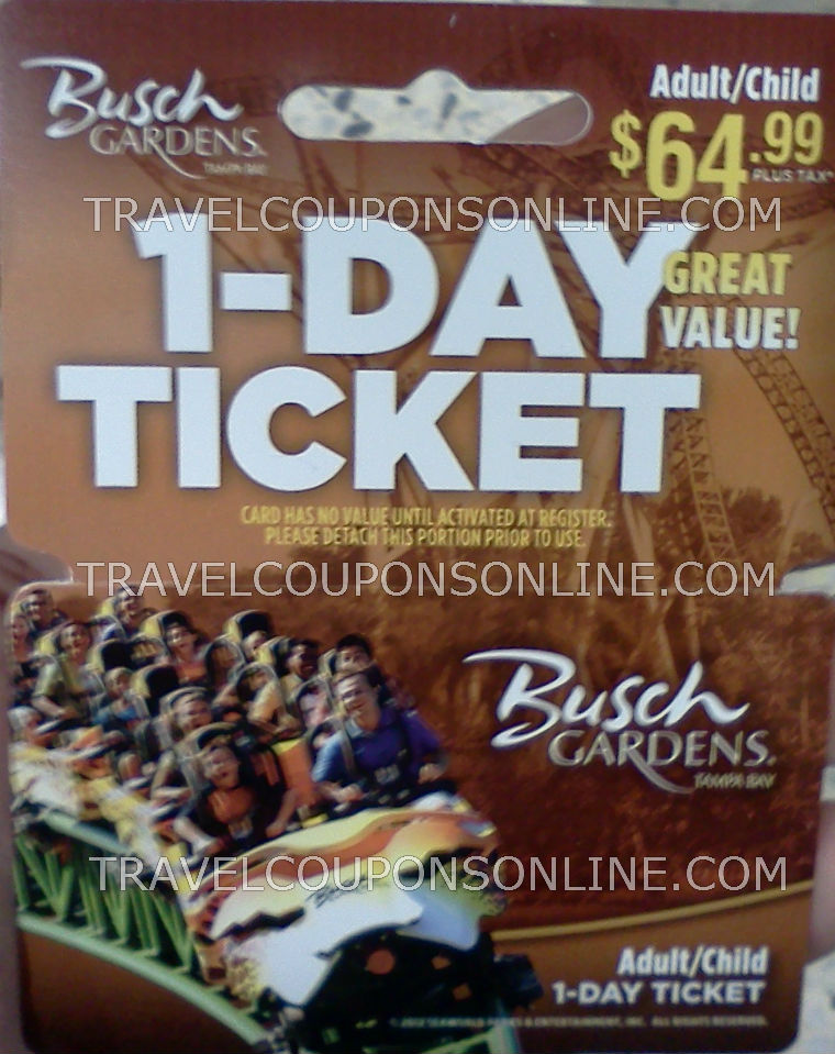 Busch gardens tampa discount tickets coupons