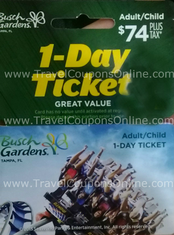 Busch Gardens Williamsburg Fun Card Discount I Busch Gardens All Ticket Offers Busch Gardens