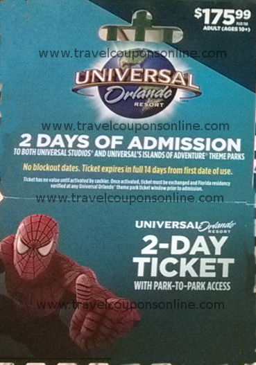 Universal studio discount coupon